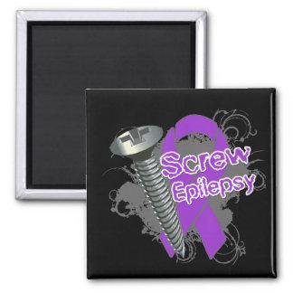 Screw Epilepsy Refrigerator Magnets