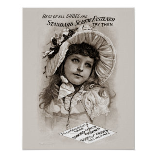 Screw Fastened Shoes Girl Poster