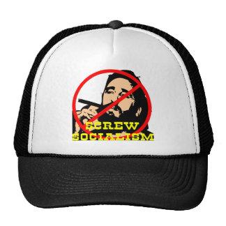 Screw Fidel and Screw Socialism Trucker Hat