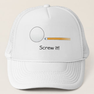 Screw it! billiards hat, customisable trucker hat