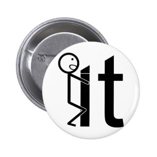 Screw It Funny Stick Figure Gifts Buttons