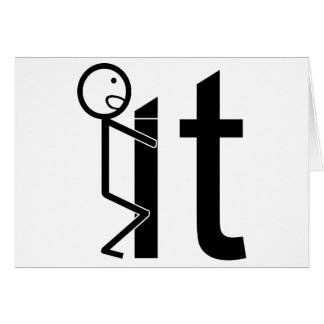 Screw It Funny Stick Figure Gifts Card