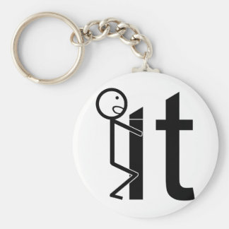 Screw It Funny Stick Figure Gifts Basic Round Button Keychain