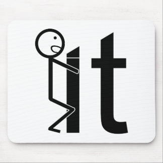 Screw It Funny Stick Figure Gifts Mouse Pad