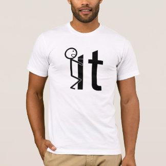 Screw It Funny Stick Figure Men's T-shirt