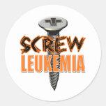 Screw Leukemia Classic Round Sticker