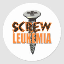 Screw Leukemia Classic Round Sticker