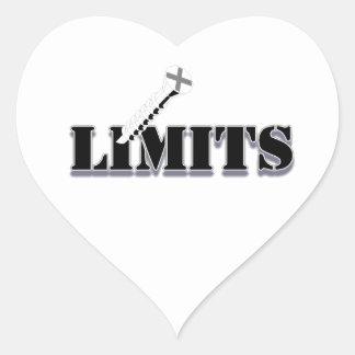Screw Limits Heart Sticker