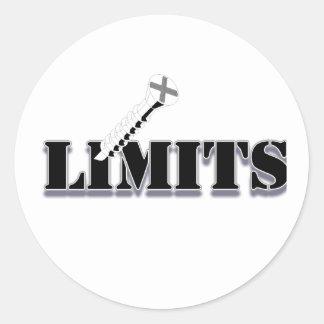 Screw Limits Round Stickers