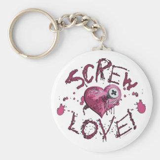 Screw Love Gear Keychain