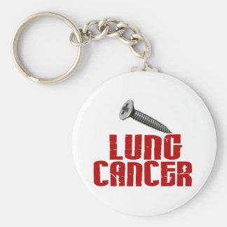 SCREW Lung Cancer 1 Keychain