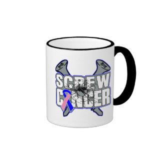 Screw Male Breast Cancer Ringer Coffee Mug