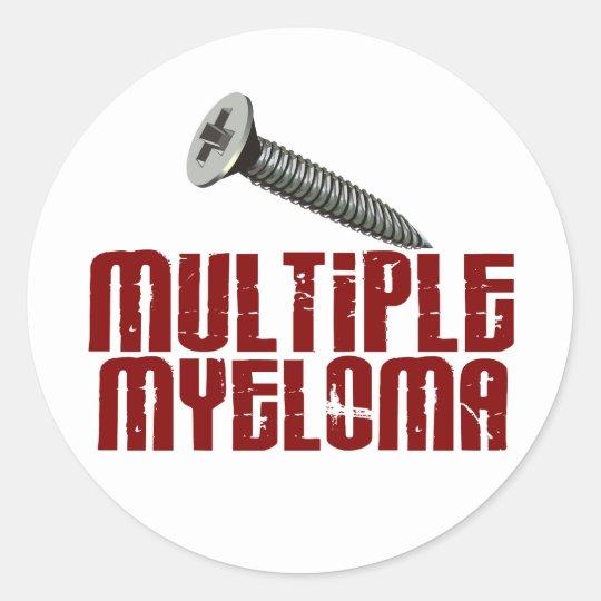 SCREW Multiple Myeloma 1 Classic Round Sticker