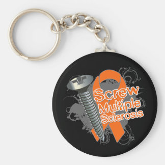 Screw Multiple Sclerosis Basic Round Button Keychain