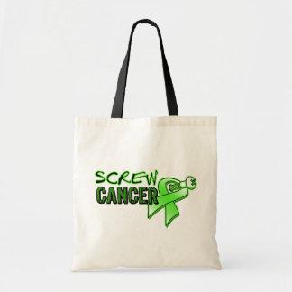 Screw Non-Hodgkin's Lymphoma Canvas Bags