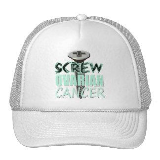 Screw Ovarian Cancer Trucker Hat