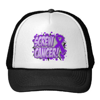 Screw Pancreatic Cancer Comic Style Mesh Hat