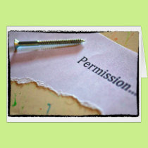 Screw permission greeting card