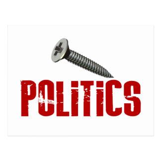 Screw Politics Postcard