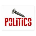 Screw Politics Postcards