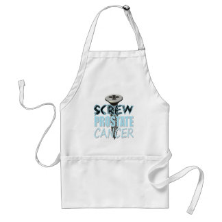 Screw Prostate Cancer Adult Apron
