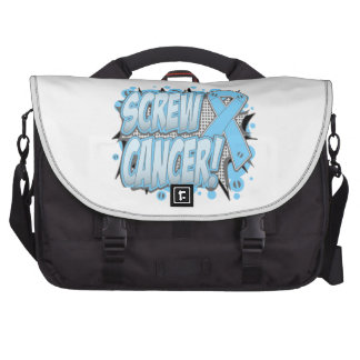Screw Prostate Cancer Comic Style Computer Bag