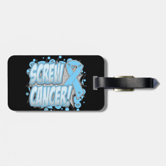 Screw Prostate Cancer Comic Style Travel Bag Tag