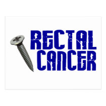 Screw Rectal Cancer 2 Postcard