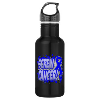 Screw Rectal Cancer Comic Style 18oz Water Bottle