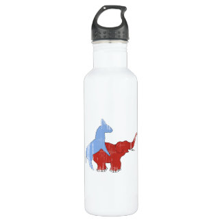SCREW REPUBLICANS Faded.png 24oz Water Bottle