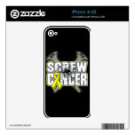 Screw Sarcoma Cancer iPhone 4 Skins