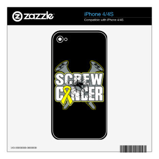 Screw Sarcoma Cancer Decal For The iPhone 4