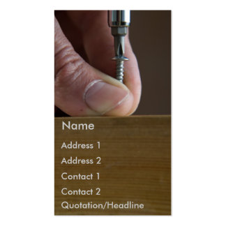 screw&screwdriver Double-Sided standard business cards (Pack of 100)