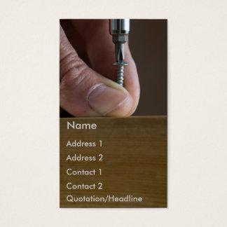 screw&screwdriver business card