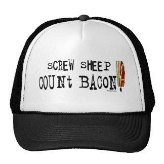Screw Sheep Count Bacon Hat