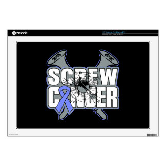 "Screw Stomach Cancer 17"" Laptop Skins"
