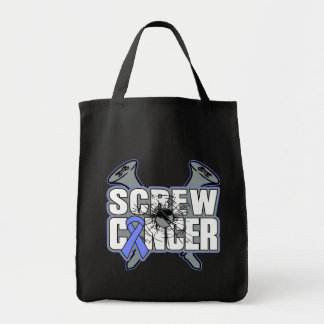 Screw Stomach Cancer Grocery Tote Bag