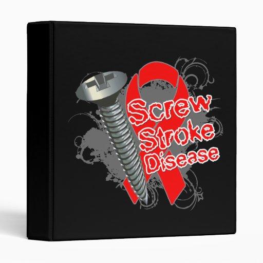 Screw Stroke Disease Vinyl Binder