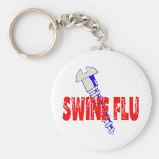 Screw Swine Flu Keychain