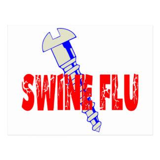 Screw Swine Flu Postcard
