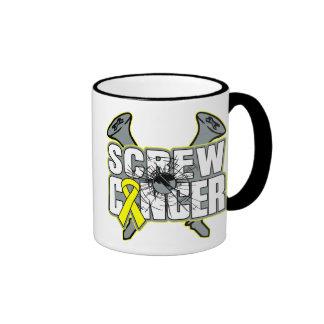 Screw Testicular Cancer Ringer Mug