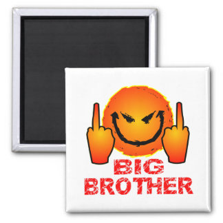 Screw The Federal Government Big Brother 2 Inch Square Magnet