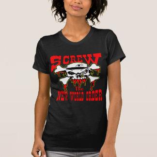 Screw The New World Order Skull T-Shirt