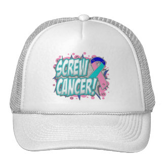 Screw Thyroid Cancer Comic Style Hats