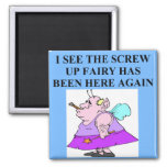 screw up fairy 2 inch square magnet