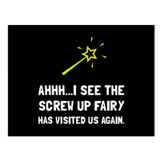 Screw Up Fairy Postcard
