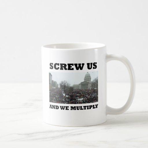 Screw us and we multiply mug