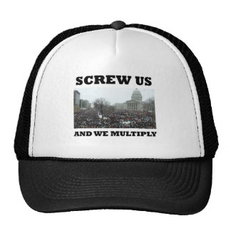 Screw us and we multiply trucker hat