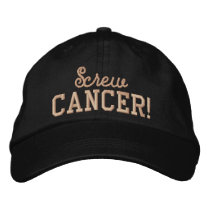 Screw Uterine Cancer Peach Letters Embroidered Baseball Hat
