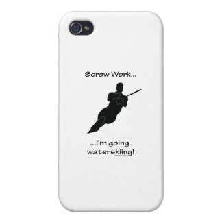 Screw Work I m Going Waterskiing Covers For iPhone 4